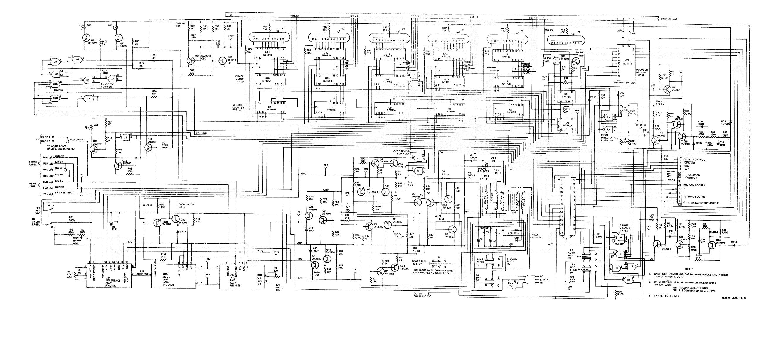 Figure 9-4. Main board assembly, schematic diagram.