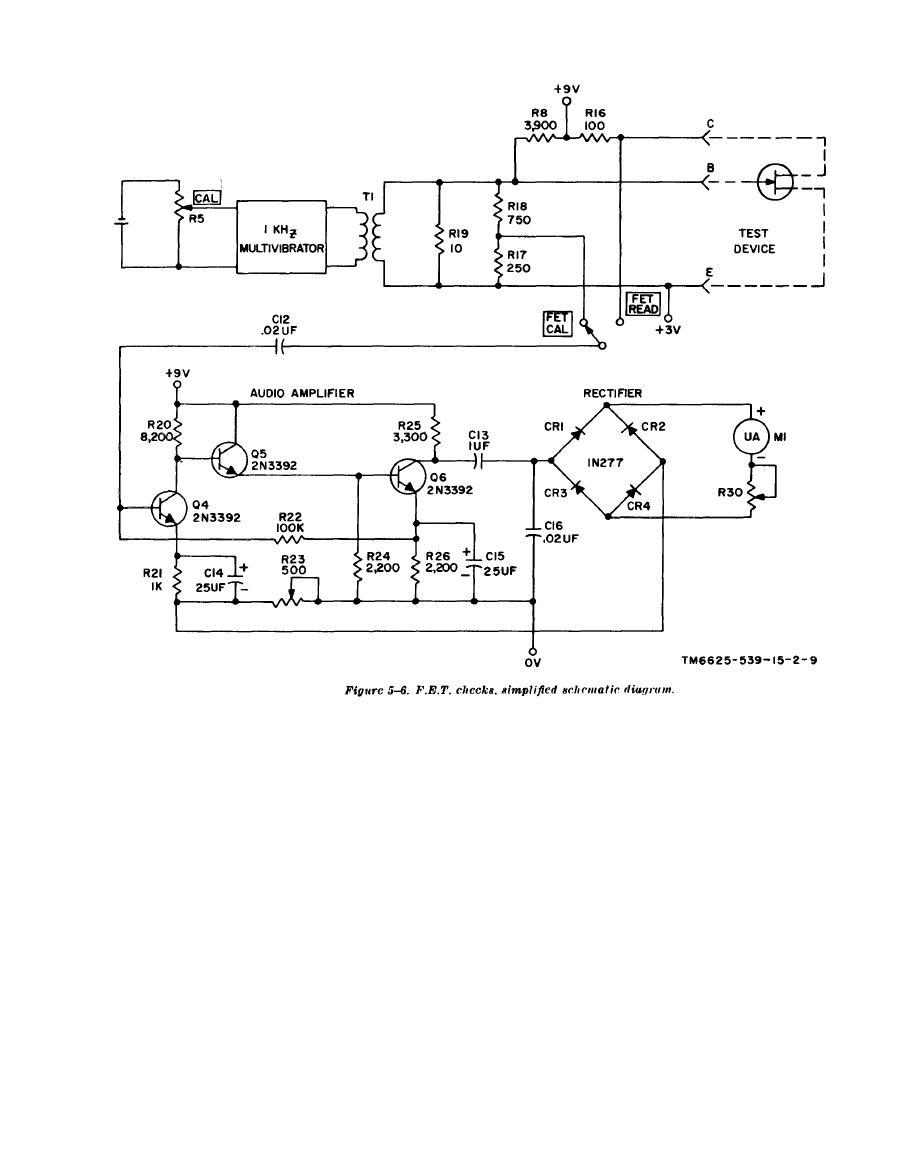 Figure 5 6 Fet Check Simplified Schematic Diagram Circuit 11 6625 539 15 2